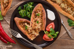 Home-baked pide Stock Photos