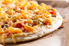 Home baked pizza Stock Images