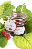 Home-baked raspberry jam Stock Photos