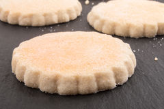 Home baked scottish sweet shortbread. On slate Royalty Free Stock Images