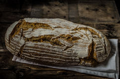 Home-baked sourdough bread Stock Images