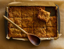 Home Baking Flapjack Stock Images