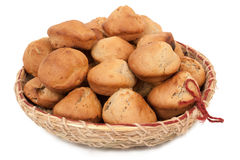 Home baking. The homemade baking is in the handwork wattled dish royalty free stock image
