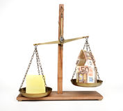 Home balance costs - concept Royalty Free Stock Photography