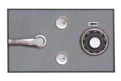 HOME-Banco seguro de aço velho Imagens de Stock Royalty Free