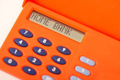Home bank Royalty Free Stock Image