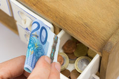 Home banking euros Royalty Free Stock Images