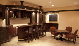 Home bar/ Lounge Stock Photography