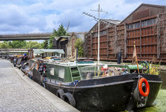 Home Barge in Paddington Basin in London Royalty Free Stock Photography