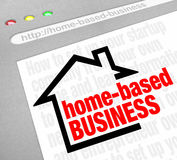 Home Based Business Advice Information Tips Online Website Inter. Home Based Business website resource offering advice, tips, help, assistance and information Stock Image