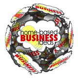 Home Based Business Thought Cloud Sphere Brainstorming Ideas Royalty Free Stock Image