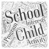 A home based after school program word cloud concept. A home based after school program Stock Image