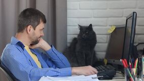 Home-based specialist stroked his beloved cat