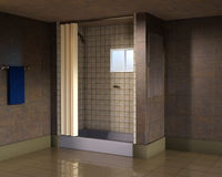 Home Bathroom Shower Stall Illustration Royalty Free Stock Image