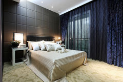 Home bedroom interior Royalty Free Stock Photography