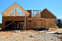 Home being constructed royalty free stock photography
