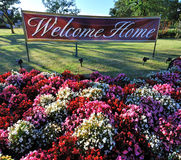 HOME bem-vinda Imagem de Stock Royalty Free