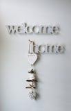 HOME bem-vinda Fotografia de Stock