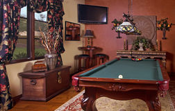 Home billiards game room Stock Image