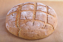 Home black hearth bread Stock Image