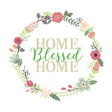 Home Blessed Home Typographic Art Print Royalty Free Stock Photos
