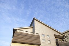 Home and blue sky background. Aichi, JAPAN -September 15, 2015:Home and blue sky background in Aichi, JAPAN.,house or home for Rent Royalty Free Stock Photo