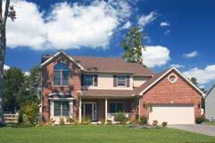 HOME bonita do tijolo Foto de Stock