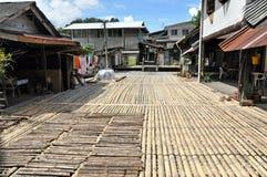 Home of Borneo Headhunters. Traditional village originally used by Borneo headhunters Stock Image