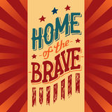 Home of the Brave illustration Royalty Free Stock Photography