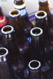 Home brew bottles Royalty Free Stock Images