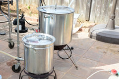 Home Brewing beer kettle Royalty Free Stock Photo