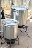 Home Brewing beer kettle Stock Image