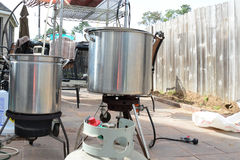 Home Brewing beer kettle Stock Photography
