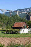 Home and bridge over the Tara River in northern Montenegro Stock Photography