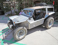 Home Build Dune Buggy. Using a tubular frame, this owner of this dune buggy used hand cut and formed aluminum panels which were riveted together to make the body Stock Image