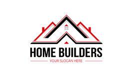 Home Builders Logo. Minimalist and modern home logo template. Simple work and adjusted to suit your needs Stock Images