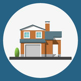 Home building flat icon Stock Photo