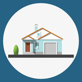 Home building flat icon Royalty Free Stock Photos