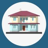 Home building flat icon Stock Photos