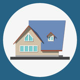 Home building flat icon Royalty Free Stock Image