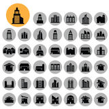 Home and building icons set. Stock Images
