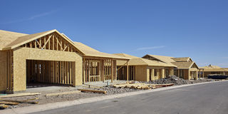 Home Building Industry in progress under construction concept Royalty Free Stock Photo
