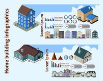 Home Building Infographics Stock Photo
