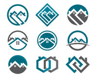 Home and building logo Stock Images