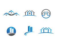 Home and building logo Royalty Free Stock Photography