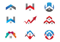 Home and building logo. Home and building and other company Stock Photography
