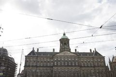 Home and buildings at the Amsterdam city stock photography