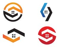 Home buildings logo and symbols icons template. Community people care logo and. symbols template Royalty Free Stock Photos