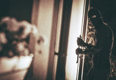 Home Burglar in a Mask Stock Photography