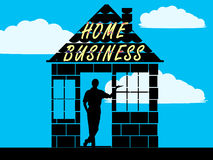 Home business. Or home-based business illustration, Transparent png available Stock Image